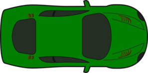 Green Car - Top View Clip Art
