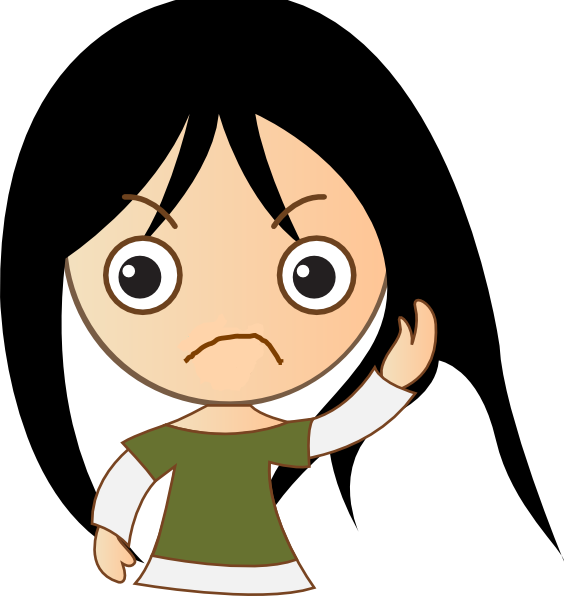 Cute Girl Sad Clip Art at Clker.com - vector clip art ...