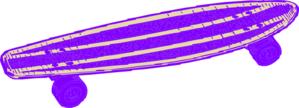 Purple Skateboard Clip Art