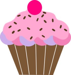pink cupcake clip art at clker com vector clip art online royalty rh clker com Cupcake Clip Art Black and White Pink Cake Clip Art