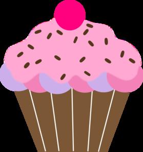 pink cupcake clip art at clker com vector clip art online royalty rh clker com Pink Cake Clip Art Valentine Cupcake Clip Art
