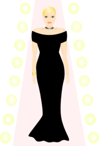 Woman In Black Dress Clip Art