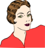 Vintage Lady In Color Clip Art