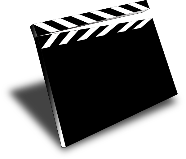 Clapper Movie Clip Art at Clker.com - vector clip art online, royalty ...