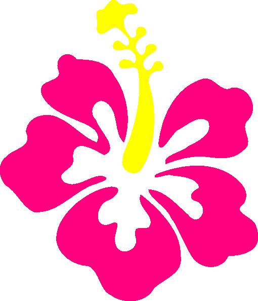 happy pink hibiscus clip art at clkercom vector clip