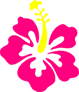 Happy Pink Hibiscus Clip Art
