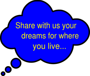 Dreams Bubble Blue Clip Art