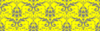 Gray Damask On Yellow Clip Art