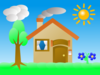 House Summer Scene Clip Art