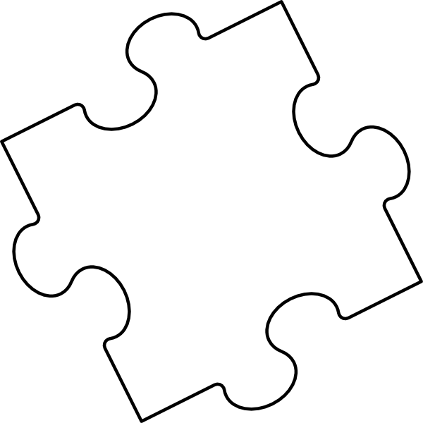 jigsaw puzzle piece outline clip art at clkercom vector