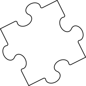 Jigsaw Puzzle Piece Outline Clip Art