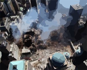 World Trade Center Collapse Clip Art
