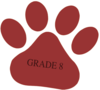 Pomegranate Paw / Dark-grey  Grade 8  Text -  Bigger Clip Art