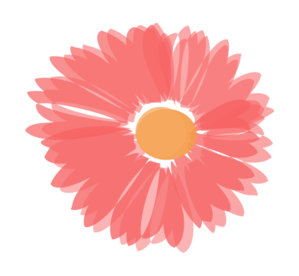 Coral And Orange Flower Clip Art