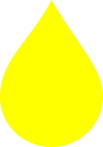 Yellow Water Droplet Clip Art