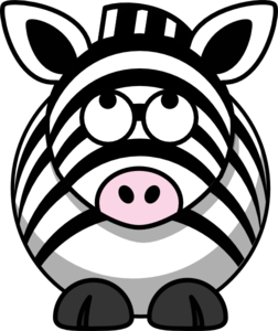 Zebra Looking Up Clip Art