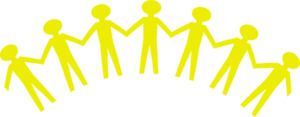 Yellow Unity People Clip Art