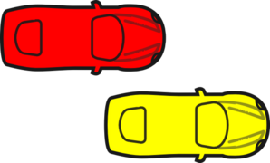 Red Car - Top View Clip Art