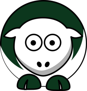 Sheep 2 Toned New York Jets Colors Clip Art