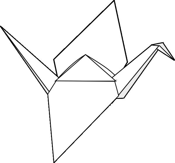 origami crane clip art at vector clip art