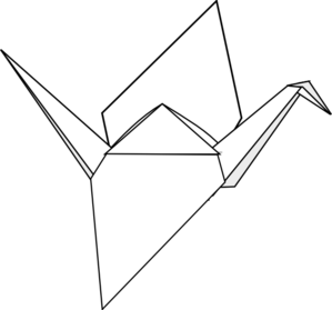 Origami Crane Clip Art