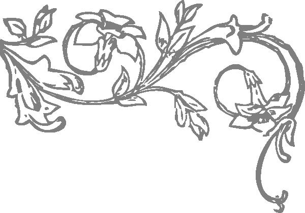 Scroll Design In Grey Clip Art At Clker Com Vector Clip Art Online Royalty Free Public Domain