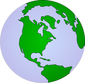 Earth Pale Continents Clip Art