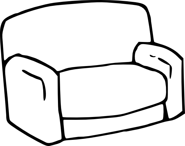 Sofa clip art at vector clip art online for Sofa zeichnung