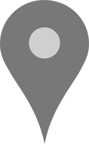 Google Map Pointer Grey Clip Art