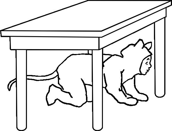 Kid Under Table Clip Art At Clker Com Vector Clip Art