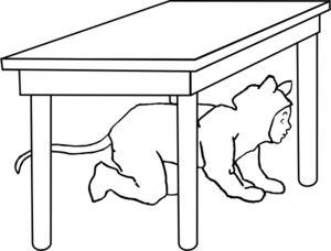 table clipart black and white. kid under table clip art clipart black and white