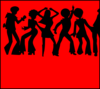 70 S Dancing Sihlouettes 2 Clip Art