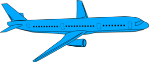 Blue Airplane Pass Clip Art