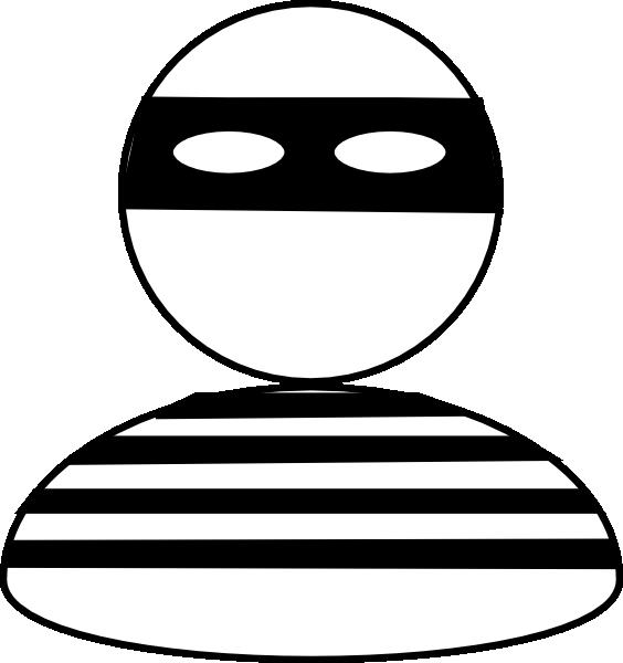 Burglar Black & White Clip Art At Clker.com