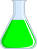 Chemistry Flash - Green Clip Art