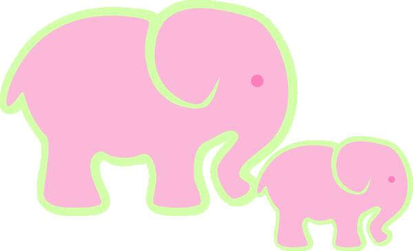 clip art pink elephant - photo #43
