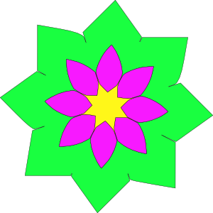 Geometric Flower Shape Clip Art