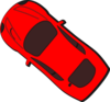 Red Car - Top View - 140 Clip Art