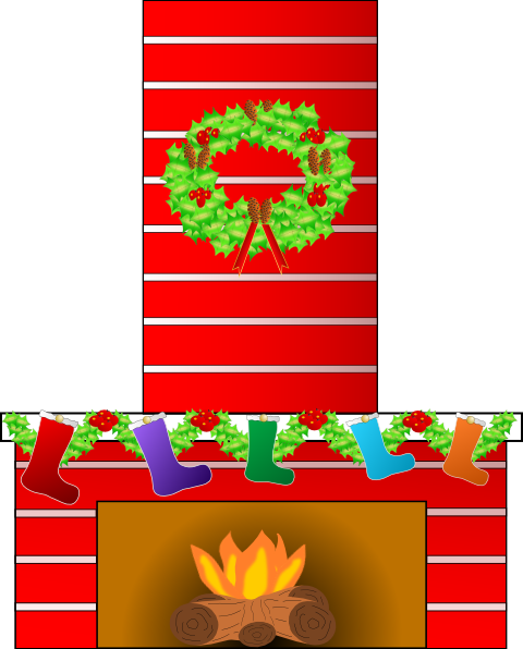Christmas Fire Place Clip Art at Clker.com - vector clip art ...