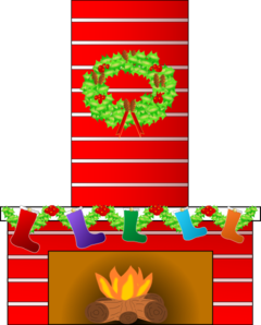 Christmas Fire Place Clip Art