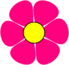 Pink Flower Power Clip Art