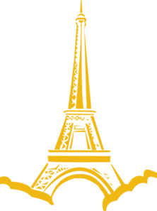 Gold Eiffle Tower Clip Art