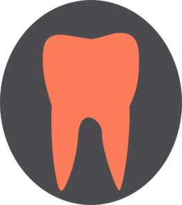 Orange Tooth12 Clip Art