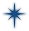 North Star Solid Blue Clip Art