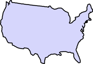 Grey Map Usa Clip Art