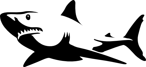 White.shark Clip Art at Clker.com - vector clip art online, royalty ...