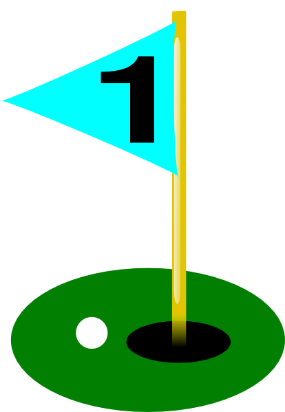 Golf flag clipart