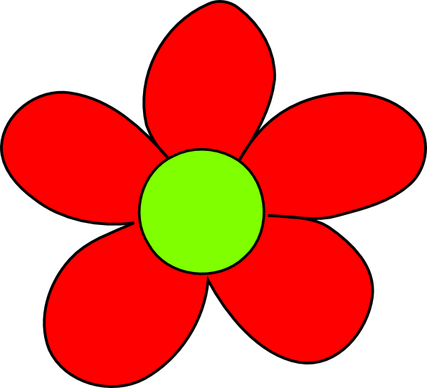 Red Flower Clip Art at Clker.com - vector clip art online ...