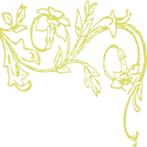 Gold Floral Swirl Clip Art