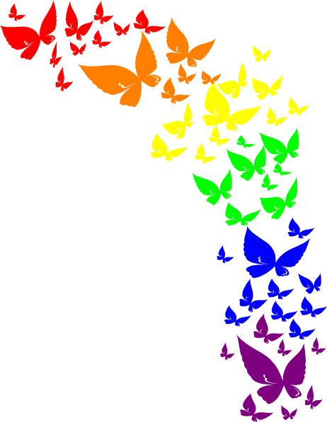 Rainbow Butterfly Clip Art at Clker.com - vector clip art ...